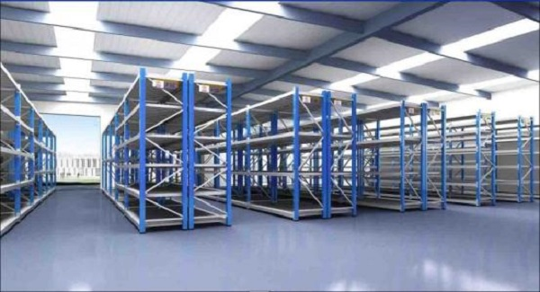 What benefits do warehouse shelves bring to modern industries?